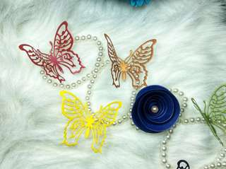 Butterfly embellishments diecuts