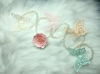 Butterfly embellishment diecuts pastel