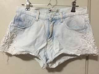 TEMT Shorts with Side Lace