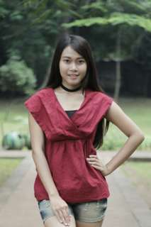 Maroon Red Blouse
