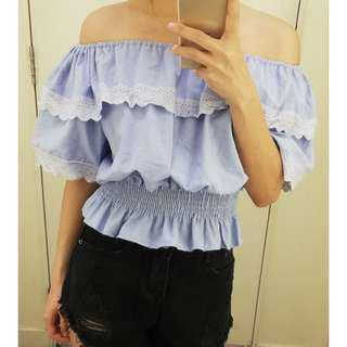 📣(Free.pos) pastle off shoulder top