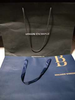 Branded cover box and branded paper bag