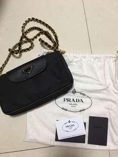 Prada Black String Bag