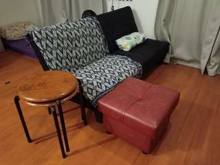 Sofabed & Footrest package - moving out sale