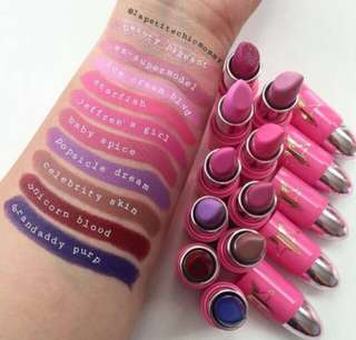 Sale💋Jeffree Star Cosmetics Lip Ammo Ammunition Bullet Lipstick Ex Supermodel Baby Spice Unicorn Blood