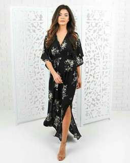 🐊Printed Maxi Dress with slit