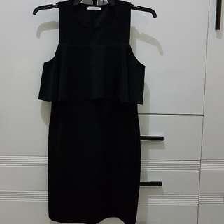 Zara Black Ruffled Dress