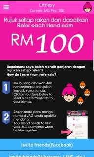 JAG Rewards free sign up