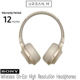 Sony WH-H800 Wireless On-Ear High Resolution Headphones (Gold)