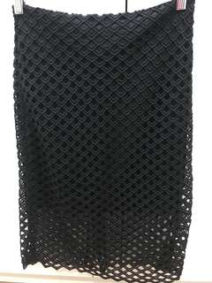 ZARA black lace/eyelet skirt