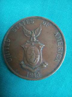 1944 filipinas-usa one centavo bronze coin