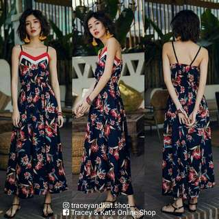 Korean Floral Dress