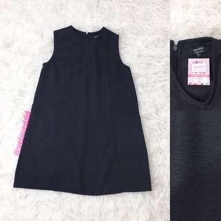 VL5519 Zalora collection black side pocket shift dress