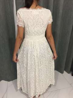 White Long Lace Dress