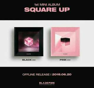 PRE ORDER BLACKPINK MINI ALBUM SQUARE UP