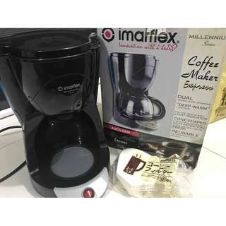 Imarflex Coffee Maker with free 100pc filters