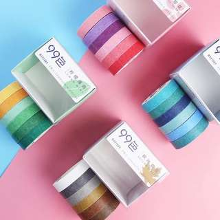 Colourful masking tapes