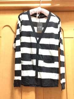 🚚 針織 薄款 防曬 橫條 橫紋 罩衫 外套 #全新#