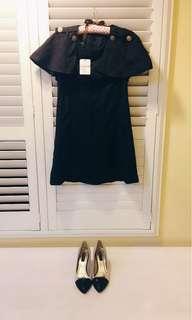 🚚 我的法式優雅 Miluku Showrooms 貴婦版 斗篷式洋裝
