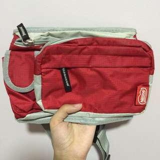 RED NESTLE FANNY PACK