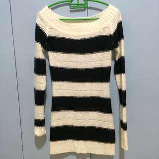 TERRANOVA OFF SHOULDER KNITTED SWEATER