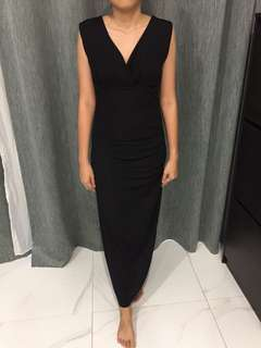 Dinner long black dress (sparkling)