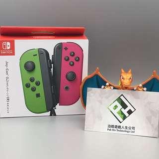 Nintendo Switch JOYCON 電光綠/電光粉紅