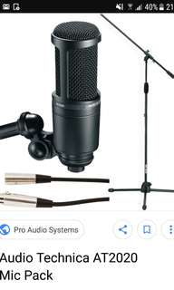 AT2020 Mic, stand and XLR cable for rent