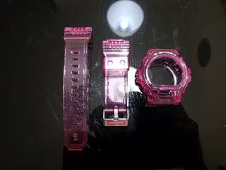 G Shock GDX6900 Neon Pink Jelly Band & Bezel