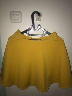 Yellow Scuba Mini Skirt