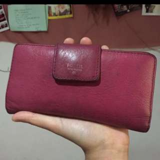 FOSSIL AUTHENTIC PINK FUSCHIA WALLET