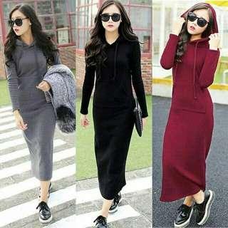 Dress hoodie maxi