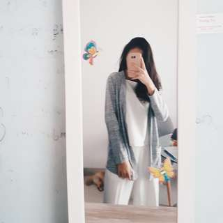H&m Look Alike Ash Grey Cardigan 🌿