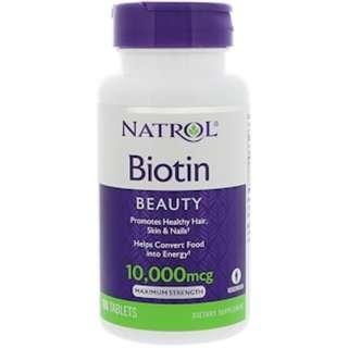RM48 Promo Natrol Biotin 10,000mg 100 Tablets