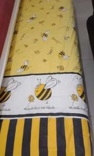 Seprei single 1 set sprei bantal guling