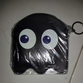 Gantungan kunci dompet koin pacman black