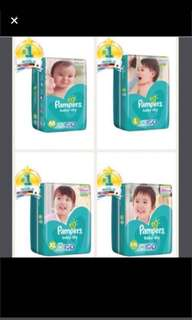 FLASHSALE: Pampers Baby Dry Tape Diapers
