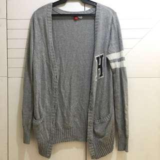Gray H&M Long Cardigan