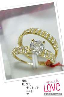 Wedding Ring 18k Saudi Gold