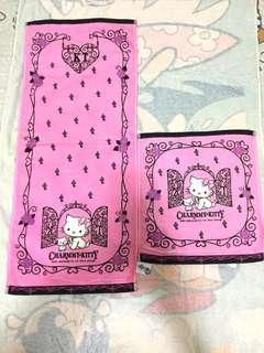 Sanrio Charmmy Kitty 長毛巾 + 大方巾各1(Brand new)