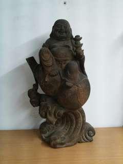 弥勒 Wood Buddha Statue