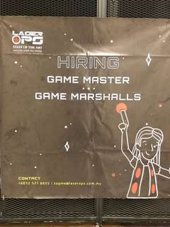 Laser Tag Game Marshall full/part timers