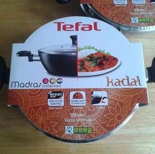 Tefal kadai with lids 26cm