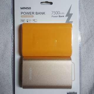 全新 移動電源 充電寶 尿袋 7500mAh MINISO