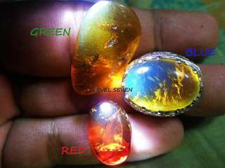 Natural Blue Green Red Amber