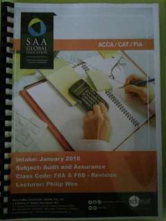 ACCA F8 (Audit and Assurance) Revision Notes