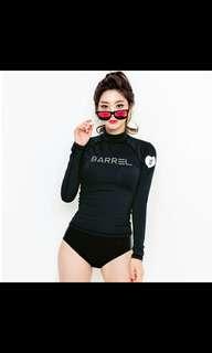 Korean Ladies Rashguard ladies Long Sleeve Swim Wear women swimming costume