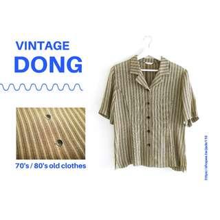 🚚 | 咚 咚 Vintage |德式古著-法蘭克孤綠短袖衫