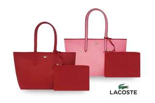 Lacoste Reversible tote with pouch