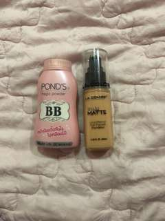 Truly matte long wearing high pigment foundation + POND's BB magic powder